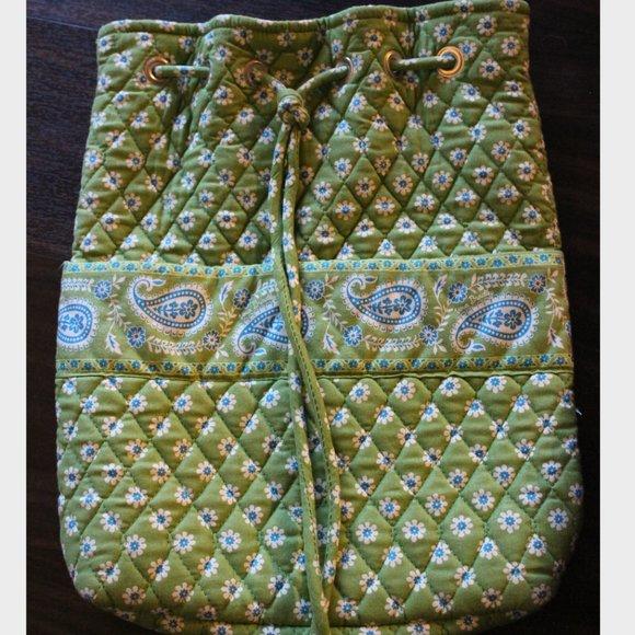 Vera Bradley Backpack in Apple Green Print RETIRED